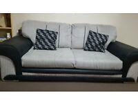 DFS fabric sofa black and grey