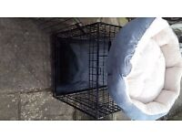 Dog crate and bed (small)