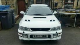 Subaru impreza turbo 2000 uk awd 4x4 hatchback estate classic wagon very rare white w reg