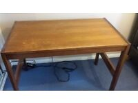 Vintage desk, real wood, brown, good condition, priced to sell