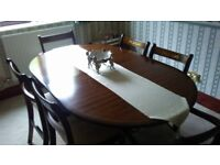 Mahogany Repro Dining Table And Six Chairs