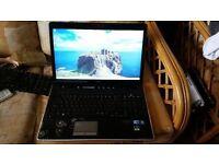 hp pavilion dv7 screen 17.3 windows 7 8g memory 500g hard drive new screen wifi webcam charger