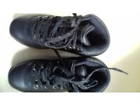 Black leather cottton trader hiking boots
