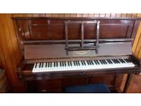 Upright Piano and Stool for sale