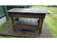 Homemade garden tables