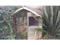 Wooden Wendy house. 2 X 2m. Needs restoration.