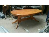 Large extending pine table