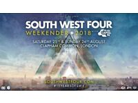 SW4 Weekend Tickets X2 - South West Four @ Clapham Common £120.00 Each