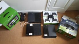3 Xbox one, 1 PS4, 5 Controller, spares and repairs