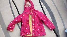 Regatta Pink waterproof jacket with some warmth age 7 - 8