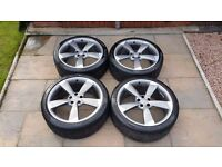 "4 x Genuine Audi 20"" Rotor alloy wheels and tyres."
