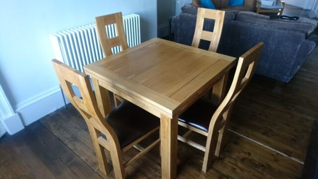 Solid Oak Dining Table 4 Chairs In New Town Edinburgh Gumtree