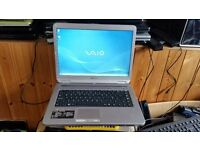 sony vaio vgn-nr38e windows 2 250g hard drive 2g memory wifi dvd drive comes with charger