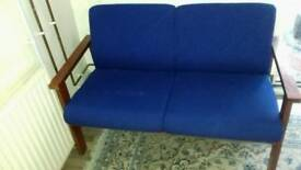 Blue 2 seater sofa