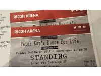 Peter Kay Dance For Life Tickets - Concert. Richo Arena