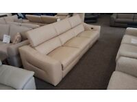 Elixir Leather 4 Seater Electric Recliner Sofa USB, From Furniture Village