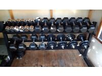 Large Dumbbell Set with Rack