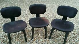 3 cow hide chairs