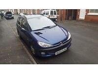 Peugeot 206 SW, 1 year M.O.T , low millage only over 69K