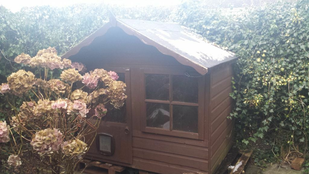 Insulated playhouse rabbit hutch shed in south for Garden shed edinburgh sale