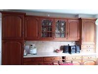 Solid kitchen units minus appliances, available November