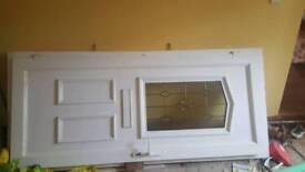 Pvc external door