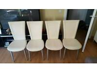 4 dinning chairs.