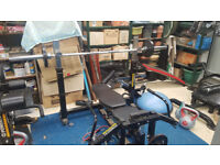 Powertec Workbench Olympic Bench with Bar
