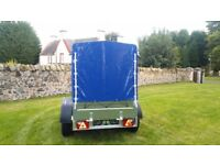 New car trailer 8.7 x 4.2 cover with braked trailer 2700kg £ 1950 INC VAT