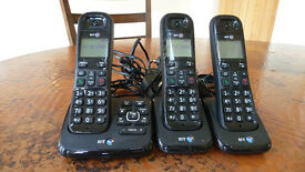 BT Model XD56 Digital Cordless 3 Handset Phone & Answer Machine & Call Block- Nearly New