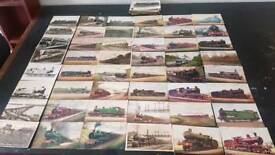 Railway train postcard collection