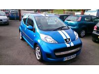 VERY LOW MILEAGE 2009 PEUGEOT 107 VERVE 1.0L 5 DOOR MET BLUE SEPT 2017 MOT ONLY 17K S/HISTORY E/W +