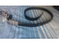 M&S Men's Black Leather Belt 42-44inch