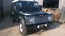 2004 Land Rover 110 Defender TD5 Hard Back £6500 + V.A.T 130K 11 months m.o.t