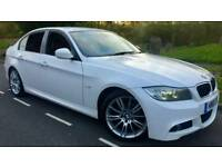 2010 BMW 318D M SPORT BUSINESS EDITION*RED LEATHER*FSH*SAT-NAV*H/SEATS*I-DRIVE*R.TAX-£30*#AUDI#GOLF
