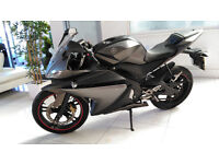 YAMAHA YZF R125 (2012) LIMITED EDITION MATT GREY