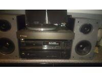 Amp,speakers,cd playe,turntable