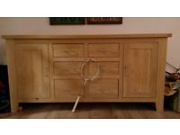Oak Dinning Room Sideboard - Scandinavian design. With drawers.
