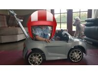 Ride on Audi R8 spyder buggy with parasol