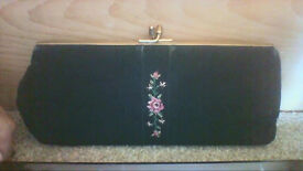 Vintage clutch evening bag with small coin purse