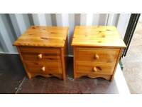 Beautiful pine bedside tables free local delivery