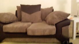 3+ 2 settee excellent condition as new good deal..... brown and biege..scatter back...£.360