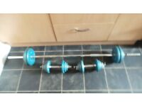 body sculpture barbell / dumbell set with 38 kg of weights