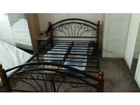 Lovely black metal double bed - good condition £100