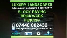 Block paving. Brickwork. Fencing. Builder. Landscapers