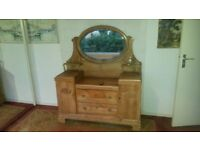 Unusual Antique Pine Dressing Table Dutch
