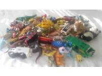 Toys (dinosaurs,trucks and cooking toys)