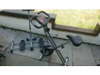 REDUCED quick sale, Exercise bike and leg magic trainer