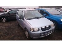 2003 SUZUKI ALTO, 1.1 PETROL, BREAKING FOR PARTS ONLY, POSTAGE AVAILABLE NATIONWIDE