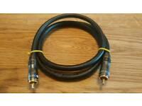 Cambridge audio 75 ohm digital coaxial interconnect cable